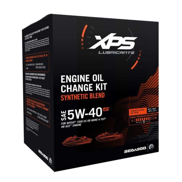4T 5W-40 Synthetic Blend Oil Change Kit  Rotax 1500 cc or more engine
